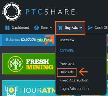 PTCShare earn investiment ganhar investindo